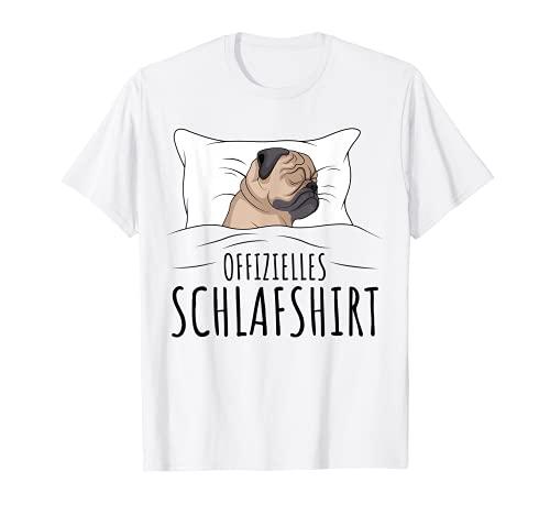 Offizielles Schlafshirt Schlafanzug Mops Hund Geschenkidee T-Shirt