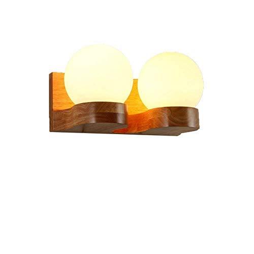 BOSSLV Lampes Murales de Lavage Lampes Lumières Spotlights Ballon D'Éclairage Country Américain Lumière Murale en Bois Double Appliques Murales