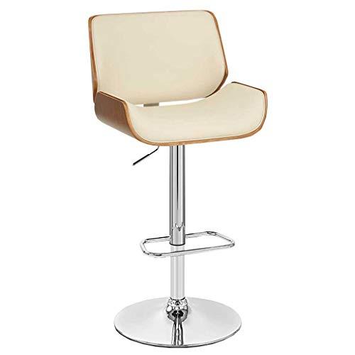 LINGZHIGAN Tabouret haut rétro en bois massif, fauteuil de bar de mode, chaise de bar arrière, chaise de bar