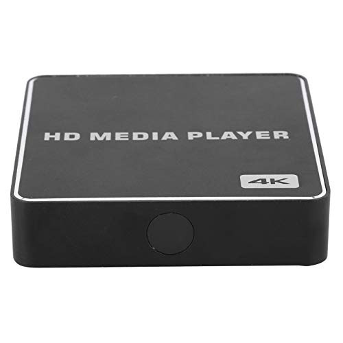 Goshyda Reproductor de Alta definición, Mini Caja de Medios USB 1080P de Alta definición Completa Soporte para Reproductor 4K Tarjeta de Memoria 2USB DC HDMI AV IR Coaxial High Media Player(EU)