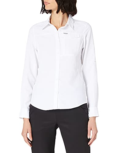 Columbia Silver Ridge 2.0 Camisa de manga larga, Mujer, Blanco, XL
