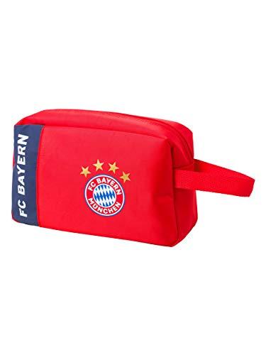 FC Bayern München Kulturbeutel, Waschsack rot mit Logo für alle FCB Fans