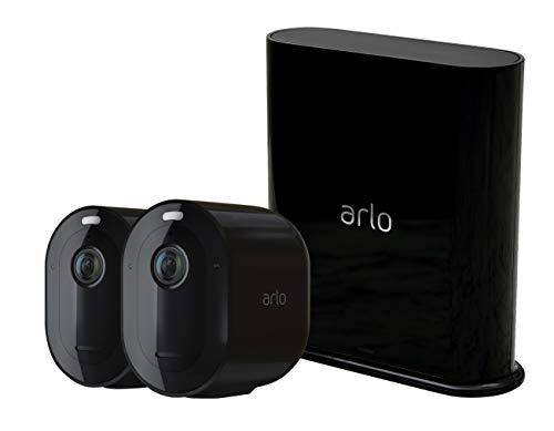 Arlo Pro3 2K - Sistema de Seguridad y luz Smart (2 Unidades, Recargable, Audio, Libre de Cables con visión Diurna/Nocturna, Interior/Exterior, Funciona con Amazon Alexa) VMS4240B