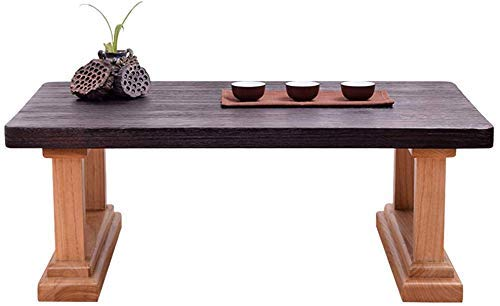 DGHJK Muebles seleccionados/Mesa de Centro Madera Maciza Tatami Bay Window Mesa de Centro Rectangular Japonesa Balcón Mini Mesa Mesa de té Zen Simple (Color: 60x40x30cm)