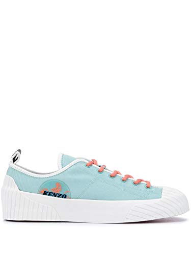 Kenzo Luxury Fashion Herren FA55SN163F5460 Hellblau Stoff Sneakers   Frühling Sommer 20