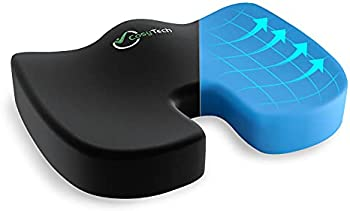 CosyTech Coccyx Seat Cushion with Non-Slip Cover 100% Memory Foam