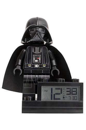 LEGO Star Wars 9004049 Wecker auf einem Fuß mit Darth Vader als Minifigur und mit einem für diesen Charakter typischen Weckton