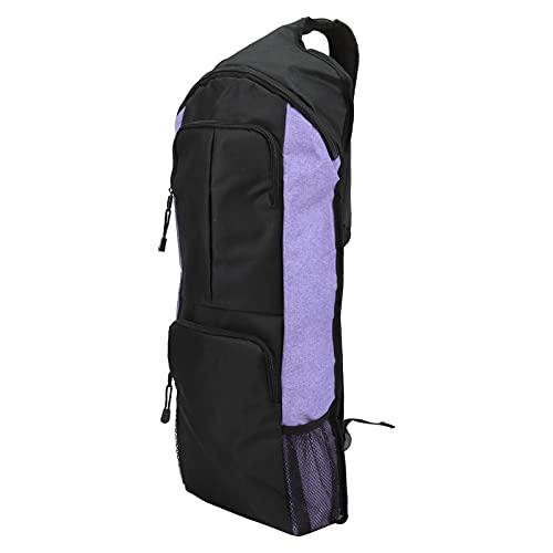 BOLORAMO Material de Hormiga + Bolsa de Yoga de Doble Costura, múltiples Compartimentos Bolsa de Yoga de Gran Capacidad con 2 Bolsillos Delanteros espaciosos con Cremallera para Viajar,(Violeta)
