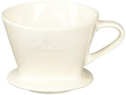 メリタ Melitta コーヒー ドリッパー 陶器製 日本製 計量スプーン付き 2~4杯用 ホワイト 陶器フィルターシリーズ SF-T1×2