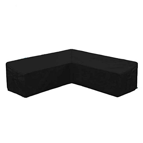 InkFenm Garden Corner Furniture Cover, Garden L-Shape Furniture Cover Waterproof, Outdoor Lightweight Sofa Couch Patio Dust Resistant Polyester Protective Cover,300 * 300 * 98cm