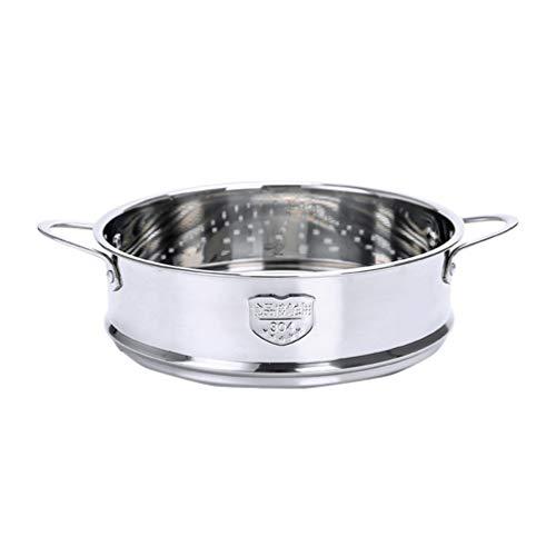 Cabilock - Cesta de vapor de acero inoxidable al vapor, con dos asas de comida al vapor, colador de cocina para frutas, carne, diám.