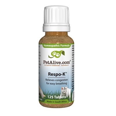 PetAlive Respo-K 125 Tablets - Natural Respiratory System Remedies for Cold...