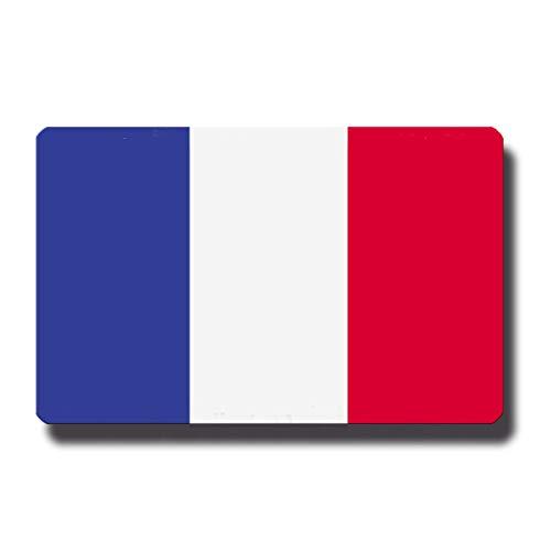 Kühlschrankmagnet Flagge Frankreich - 85x55 mm - Metall Magnet mit Motiv Länderflagge für Kühlschrank Reise Souvenir
