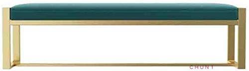 Banco de hierro forjado, Sofá heces Cambio de calzado Sala de banco Tienda de ropa sala de montaje 115 109 (Color : Blue, Size : 120m)