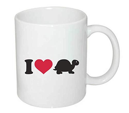 Druckerlebnis24 Tasse - I Love Schildkröte Turtle - Kaffee-Tasse 330ml - Unisize aus Keramik - Tee