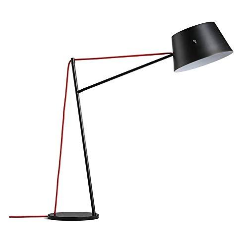 Zwarte ijzeren staande lamp/bureaulamp, in hoogte verstelbaar staande lamp lange arm lezen staande lampen tafeldecoratie zwanenhals rustiek boerenhuis downbridge vissen vloerlamp E14 Edison-lampen