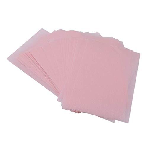 Ogquaton Papier absorbant d'huile de visage de 160 feuilles durable absorbant le tissu cosmétique de maquillage de côté double, rose