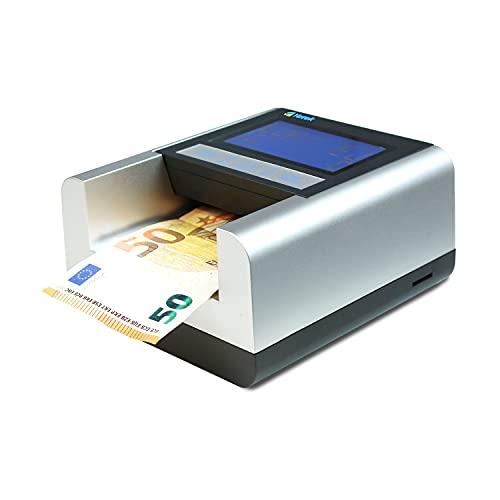 YATEK Detector de Billetes Falsos EC500 con batería incluida y lámpara UV para detección de cheques y Tarjetas de crédito, Preparado para Todos los nuevos Billetes de Euro