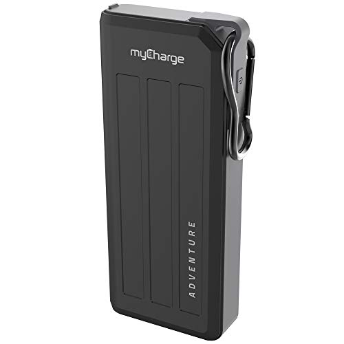 myCharge Portable Charger Waterproof USB C Power Bank Adventure 20100mAh Internal Battery / 18W Turbo Fast Charging Rugged Outdoor External Battery Pack Backup for Apple iPhone, iPad, Android