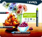Lyra Aquacolor Non-Toxic Water Soluble Wax Crayon44; Assorted Color44; Pack - 24