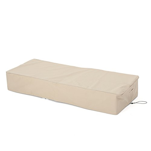 Christopher Knight Home Shield Outdoor Waterproof Fabric Lounge Set Covers, 2-Pcs Set, Beige