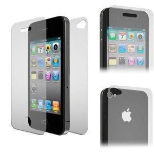 MOFRED® -Screen Protector de Pantalla para Apple iPhone 4/iPhone 4S 16GB y 32GB–Parte Delantera y Trasera Protectores de Cuerpo Completo Paquete de Valor (6Protectores Traseros)