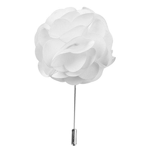 Artesanal Stick Flor En El Ojal Broche Alfiler De Corbata De Solapa Con La Flor Blanca Para Los Hombres