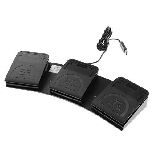 Milageto PC USB Fußschalter Tastatur Aktionsschalter Pedal HID