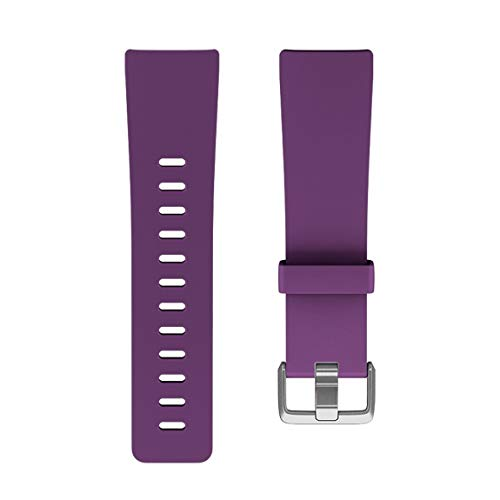 G-RF Pulseras De Repuesto para Fitbit Versa/Versa 2 / Lite Smart Watch Bandas Correa De Silicona (Small,Púrpura)