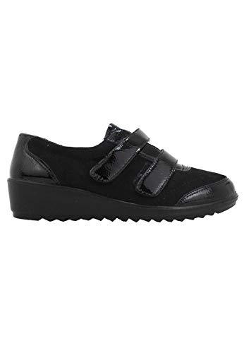 Amarpies - Zapato Sport Dos velcros Negro - Negro, 37