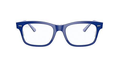 Ray-Ban 0rx5383 Gafas, BLUE ON VICHY BLUE/WHITE, 52 Unisex