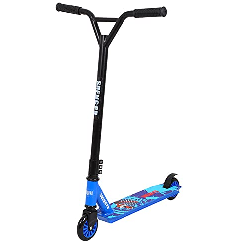 Pedal Scooter, Scooter Infantil, Scooter Adulto Scooter Profesional Competitive 2 Wheel Scooter, Adecuado para Adolescentes y niñas,Azul