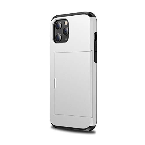 Tarjetero compatible con iPhone 12 Mini, funda doble de 2 piezas, capa de silicona TPU + PC duro, funda protectora para iPhone 12 Mini Case (1)