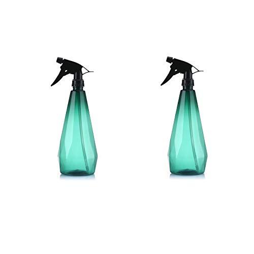 QSDGFH 2 botellas de pulverización, botella con gatillo, rociador de modo de corriente ajustable a prueba de fugas, rociador de plantas para ambientar jardinería 1 L