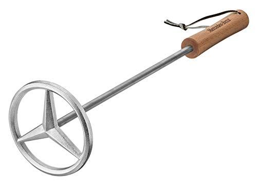 MB Mercedes-Benz grill-brandijzer, zilverkleurig, roestvrij staal