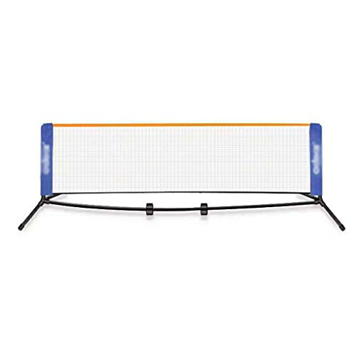 TYX Faltbares Tennisnetz, Mobiles Badmintonnetz Einfach Einzurichten, Kinder Teenager Volleyball-Trainingsnetz für Gartenstrand Indoor Outdoor,A,3m