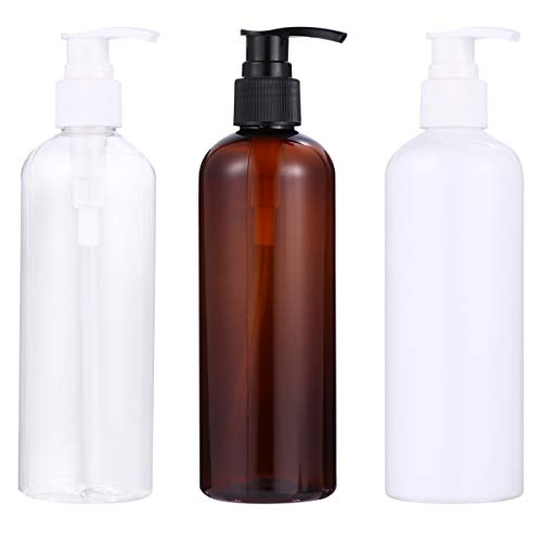 Cabilock 3Pcs Dispensadores de Bomba de Loción de Plástico Botellas Botellas de Bomba de Champú Vacías Cilindro Recargable Vacío para Champú Crema Hidratante Crema Facial Contenedor de