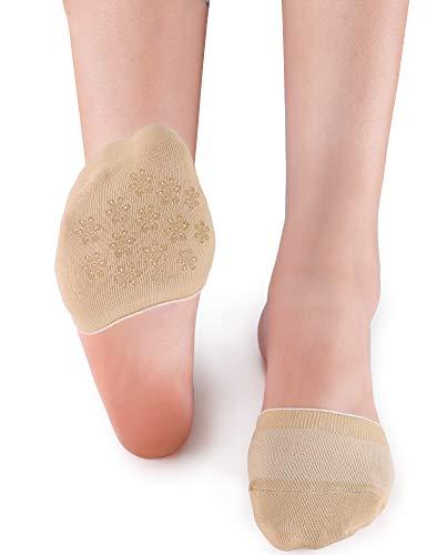 VERO MONTE 6 Pairs Toe Topper Socks Women - Half Socks Women No Show Liner Socks