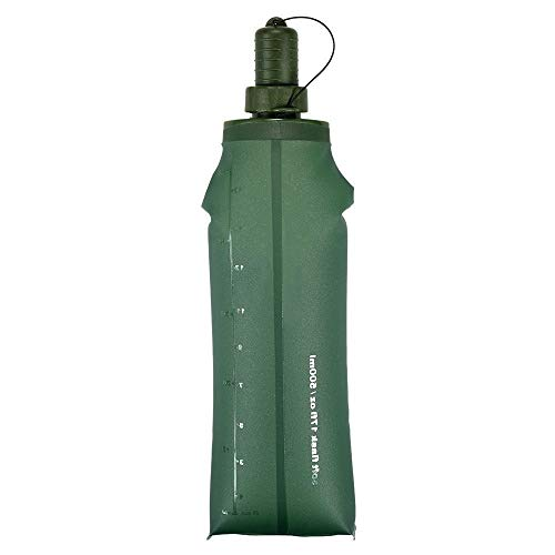 QUXING Bladder Bag 250ml,500ml TPU Folding Soft Flask Sport Water Bottle Bike Bicycle Water Bladder Running Camping Hiking Water Bag Collapsible Drink Bottle (Size : 250 ml)