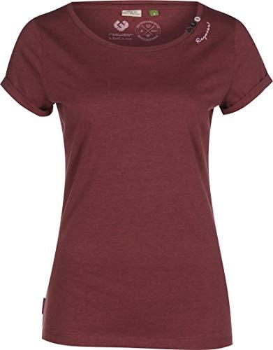 Ragwear T-Shirt Damen T-Shirt FLORAHH Organic 2011-10047 Dunkelrot Wine Red 4055, Größe:M
