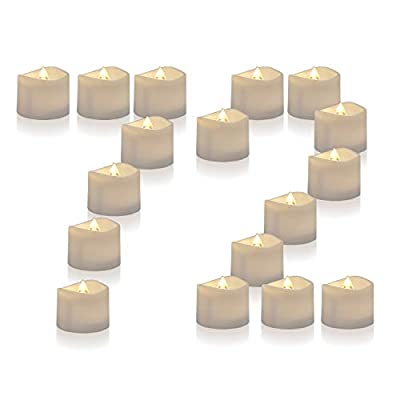 Homemory 72-Pack Battery Tea Lights Bulk, Flameless LED Tea Candles, Electric Tea Lights with Flickering, Long-Lasting Battery Life, 1.25'' H X 1.4'' D