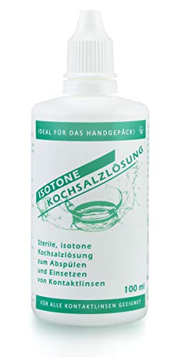 Sterile, isotone Kochsalzlösung für alle Kontaktlinsen, 100 ml