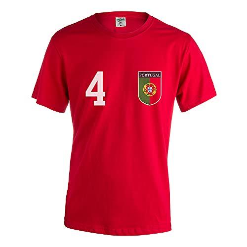 PROMO SHOP Camiseta de Portugal Eurocopa Vintage · Camiseta de equipación de Futbol Personalizada con Nombre y Número · Algodón · XXXL