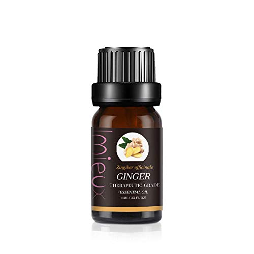 IMIEUX Aceites Esenciales para Difusores, Aceites Prefumados para Humidificadores, Aceites de Frangancia, Aromaterapia para Hogar, Oficina 10ml - Jengibre