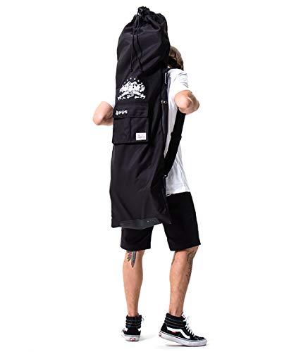 FMAFN スケートボードリュック スケボーケース ロングスケートボード用 バッグ デッキ収納袋 軽量 耐摩耗 携帯式 小物ポケット付き 持ち運び便利