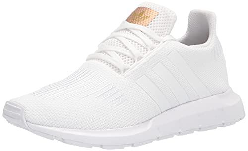 adidas Originals Women's Swift Running Shoe, White/White/Copper Metallic, 8