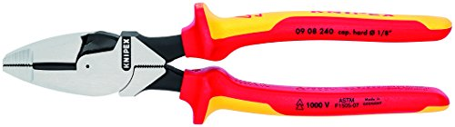Knipex 09 08 240 SBA 9.5-Inch Insulated Ultra-High Leverage Lineman's Pliers