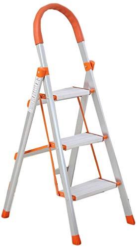 FSZB Escalera de Mano de Madera portátil Multifuncional Ampliar el Taburete de Escalera Plegable de la aleación de Aluminio Estante de exhibición y Flor