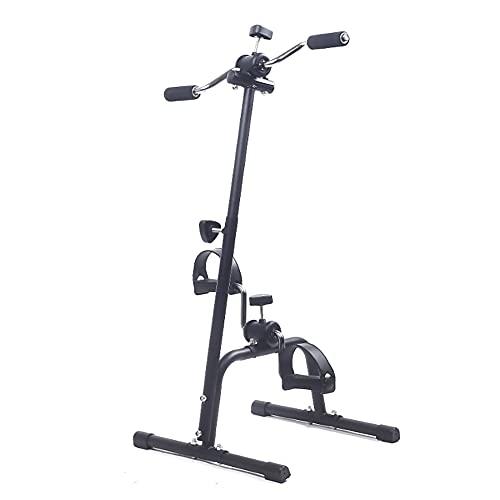 Entrenador de Pies y Manos, Bicicleta de Rehabilitacion para ancianos discapacitados, Máquina de terapia física para bicicletas de interior y fitness/Black / 73x40.5x40cm