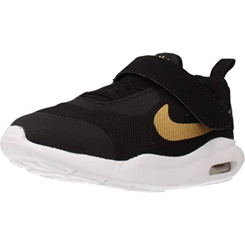 Nike Air MAX Oketo VTB, Zapatillas de Estar por casa Unisex niños, Multicolor (Black/Metallic Gold/White 1), 22 EU